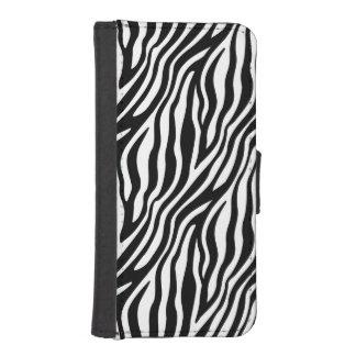 Capa Carteira Para iPhone SE/5/5s Teste padrão preto e branco das listras do