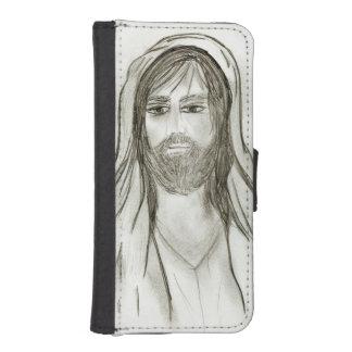 Capa Carteira Para iPhone SE/5/5s Um Jesus vestido com robe