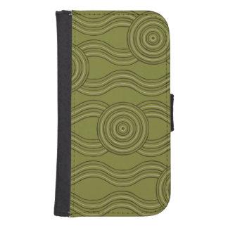 Capa Carteira Para Samsung Galaxy S4 Arbusto aborígene da arte