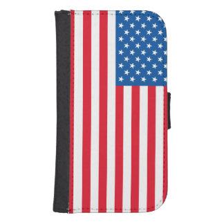 Capa Carteira Para Samsung Galaxy S4 Bandeira dos Estados Unidos da bandeira dos EUA