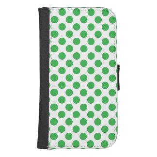 Capa Carteira Para Samsung Galaxy S4 Bolinhas verdes