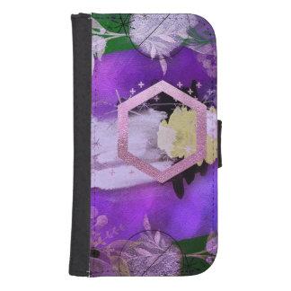Capa Carteira Para Samsung Galaxy S4 bonito, ultravioleta, abstrato, colagem, prata, f
