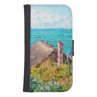 Capa Carteira Para Samsung Galaxy S4 Claude Monet a cabine em belas artes do