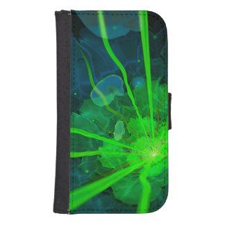 Capa Carteira Para Samsung Galaxy S4 Flor subaquática bonita do Fractal de Atlantis