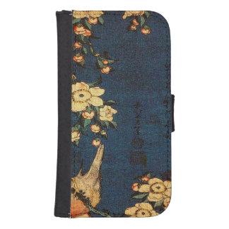 Capa Carteira Para Samsung Galaxy S4 Impressão tradicional do papel japonês do vintage