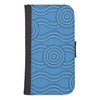 Capa Carteira Para Samsung Galaxy S4 Oceano aborígene da arte
