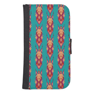 Capa Carteira Para Samsung Galaxy S4 Ornamento asteca tribal étnico do vintage