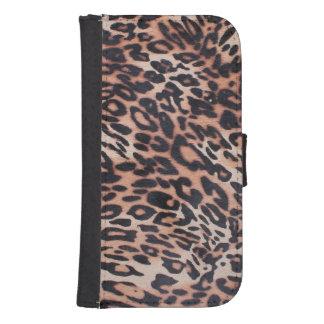 Capa Carteira Para Samsung Galaxy S4 Pele do leopardo