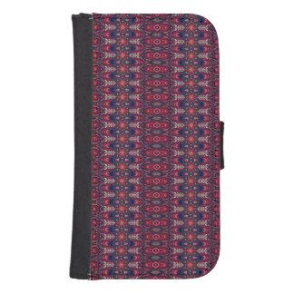 Capa Carteira Para Samsung Galaxy S4 Teste padrão floral étnico abstrato colorido da