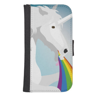 Capa Carteira Para Samsung Galaxy S4 Unicórnios puking da ilustração