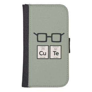 Capa Carteira Para Samsung Galaxy S4 Vidros bonitos Zwp34 do nerd do elemento químico