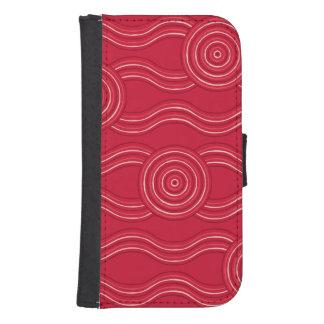 Capa Carteira Para Samsung Galaxy S4 Waratah aborígene da arte