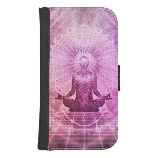 Capa Carteira Para Samsung Galaxy S4 Zen espiritual da meditação da ioga colorido