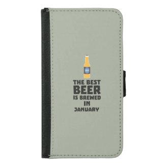 Capa Carteira Para Samsung Galaxy S5 A melhor cerveja é em maio Z96o7 fabricado cerveja