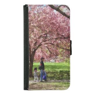 Capa Carteira Para Samsung Galaxy S5 Apreciando as árvores de cereja