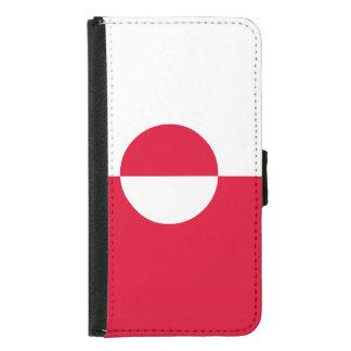 Capa Carteira Para Samsung Galaxy S5 Bandeira de Greenland
