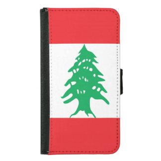 Capa Carteira Para Samsung Galaxy S5 Bandeira de Líbano