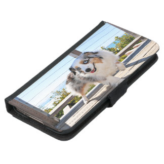 Capa Carteira Para Samsung Galaxy S5 Bennett - mini australiano - Rosie - praia de