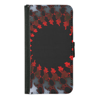 Capa Carteira Para Samsung Galaxy S5 Branco preto vermelho do Fractal