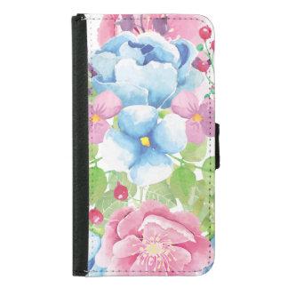 Capa Carteira Para Samsung Galaxy S5 Buquê floral da aguarela bonito
