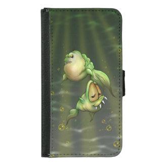 Capa Carteira Para Samsung Galaxy S5 Caixa da carteira da galáxia S5 dos ALIENS dos