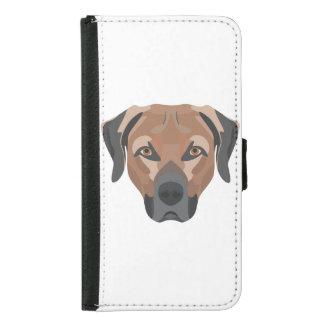Capa Carteira Para Samsung Galaxy S5 Cão Brown Labrador da ilustração