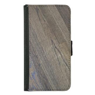 Capa Carteira Para Samsung Galaxy S5 Caso rústico de madeira do telemóvel