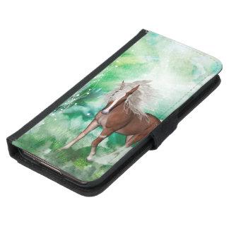 Capa Carteira Para Samsung Galaxy S5 Cavalo bonito no país das maravilhas