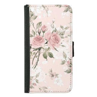 Capa Carteira Para Samsung Galaxy S5 Chique, chique francês, vintage, floral, rústico,