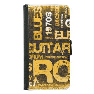 Capa Carteira Para Samsung Galaxy S5 Convite de festas da música rock como a arte do