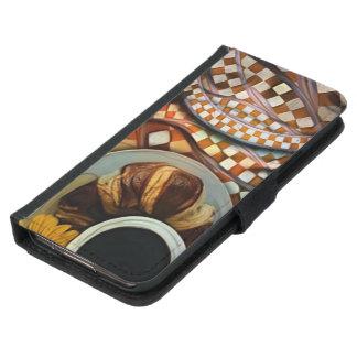Capa Carteira Para Samsung Galaxy S5 Da meia-noite extremidades nunca, um Fractal