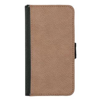 Capa Carteira Para Samsung Galaxy S5 Falso Brown natural de couro