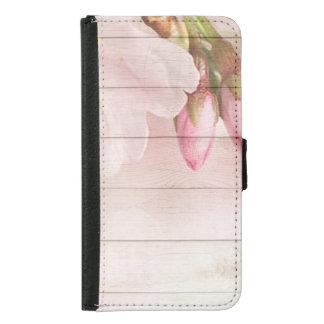 Capa Carteira Para Samsung Galaxy S5 Flor de cerejeira