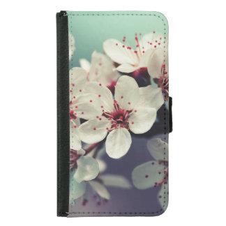 Capa Carteira Para Samsung Galaxy S5 Flor de cerejeira cor-de-rosa, Cherryblossom,