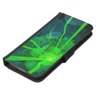Capa Carteira Para Samsung Galaxy S5 Flor subaquática bonita do Fractal de Atlantis