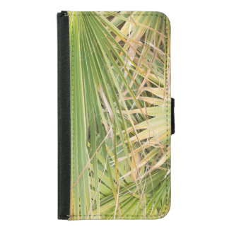Capa Carteira Para Samsung Galaxy S5 Folhas de palmeira