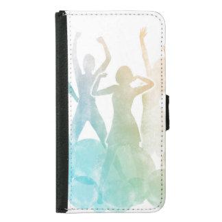 Capa Carteira Para Samsung Galaxy S5 Grupo de amigos que saltam para a alegria na