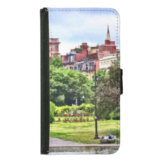 Capa Carteira Para Samsung Galaxy S5 MÃES de Boston - relaxando no jardim público de