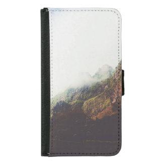 Capa Carteira Para Samsung Galaxy S5 Montanhas enevoadas, cena de relaxamento da