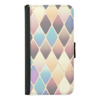 Capa Carteira Para Samsung Galaxy S5 Mosaico Pastel do diamante