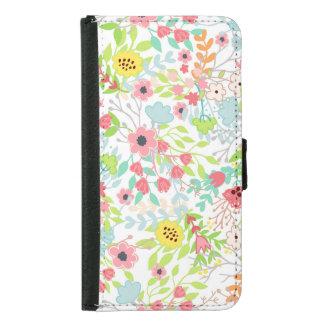 Capa Carteira Para Samsung Galaxy S5 O primavera bonito floresce o teste padrão floral