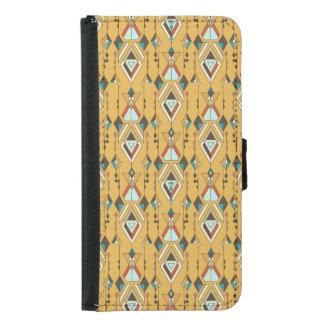 Capa Carteira Para Samsung Galaxy S5 Ornamento asteca tribal étnico do vintage
