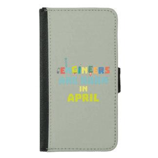 Capa Carteira Para Samsung Galaxy S5 Os engenheiros são em abril Z5h58 nascidos