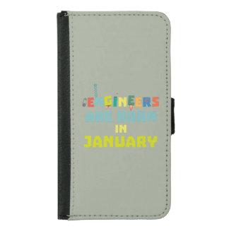 Capa Carteira Para Samsung Galaxy S5 Os engenheiros são em janeiro Zcu85 nascidos