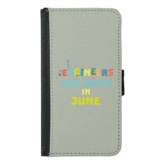 Capa Carteira Para Samsung Galaxy S5 Os engenheiros são em junho Zo3k7 nascidos