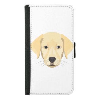 Capa Carteira Para Samsung Galaxy S5 Ouro Retriver do filhote de cachorro da ilustração