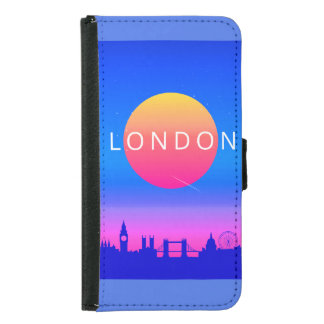 Capa Carteira Para Samsung Galaxy S5 Poster de viagens dos marcos de Londres