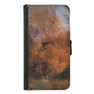 Capa Carteira Para Samsung Galaxy S5 Puma dos animais selvagens da silhueta da árvore
