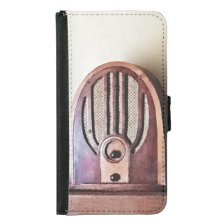 Capa Carteira Para Samsung Galaxy S5 Rádio dos anos 30 do vintage