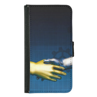 Capa Carteira Para Samsung Galaxy S5 Rede da integração do negócio com agitação das